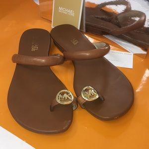 MK toe loop leather sandals